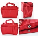Sac multipoches rouge