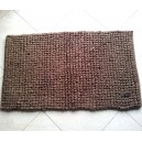 Tapis rectangle marron glacé