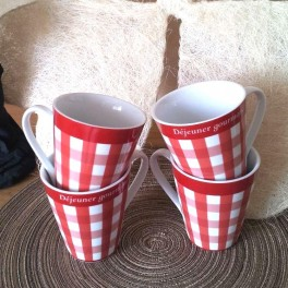 Mugs vichy rouge